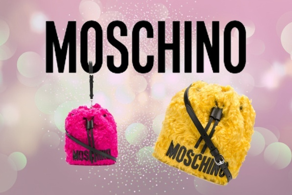 Moschino handbags: the bucket shape is the new trend for winter
