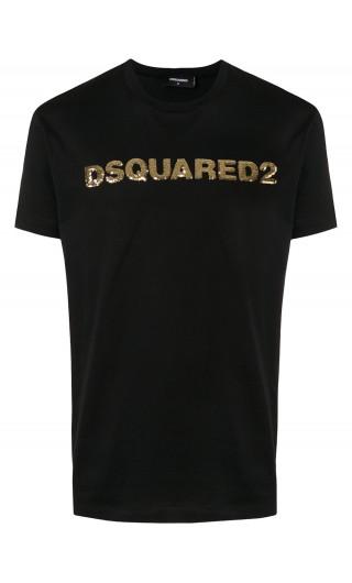 T-Shirt mm giro stampa Dsquared