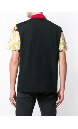 Polo mm stampa Gold Hibiscus