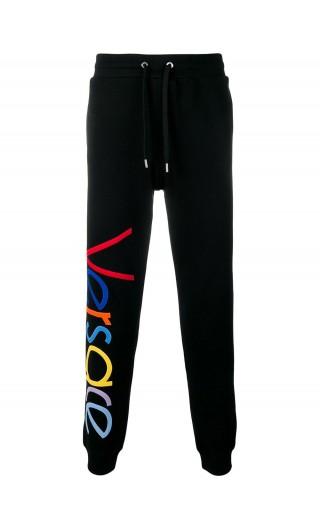 Pantalone felpa logo vintage multicolor