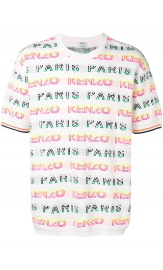 T-Shirt mm giro st.Kenzo Paris allover