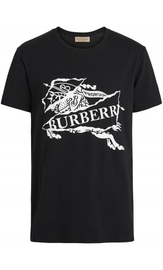 T-Shirt mm giro logo effetto collage