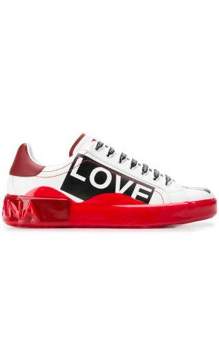 Sneakers bassa v.nappa c/scritte