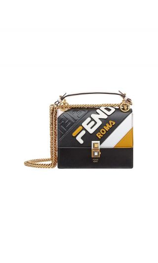 Mini bag c/patta FF stampato a rilievo