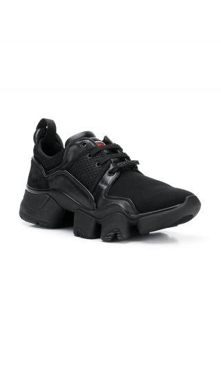 Sneaker basse JAW di neoprene e pelle