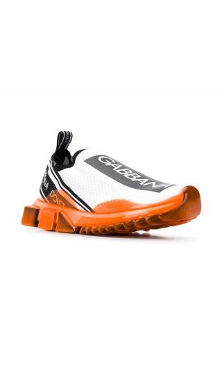Sneakers bassa maglina + elastico + nastro logo