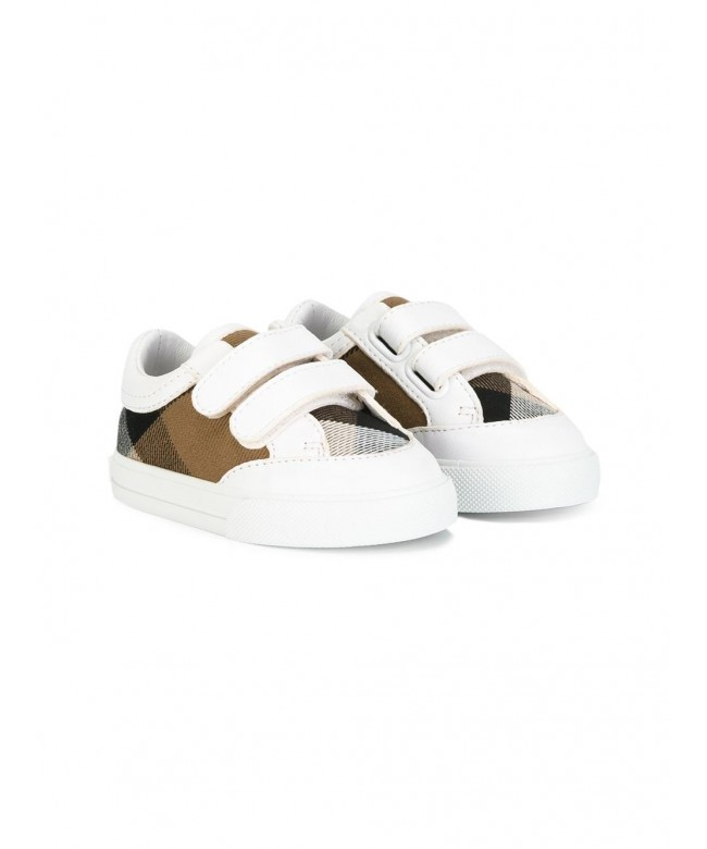 SNEAKERS C/PELLE E MOTIVO HOUSE CHECK