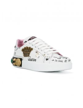 Sneakers vitello nappato + dauphine