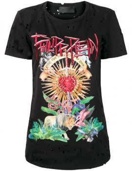 T-Shirt mm giro Destroyed