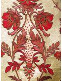 Abito jacquard fiore lurex