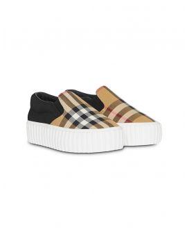Sneaker senza lacci Vintage check