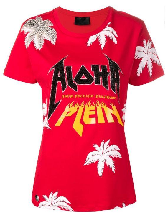 T-Shirt mm giro Aloha Plein