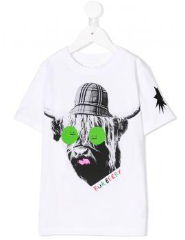 T-Shirt mm giro st.mucca scozzese