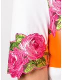 T-Shirt mm ricamo rose