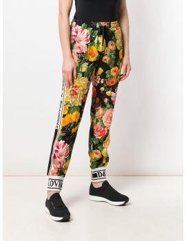 Pantalone mix fiori
