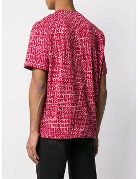 T-Shirt mm giro over stampa loghi