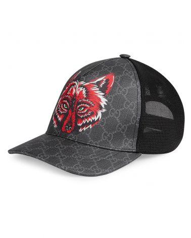 Cappello baseball GG con lupo