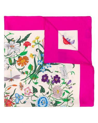 Foulard flora flou twill