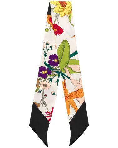 Collarino flora gothic twill