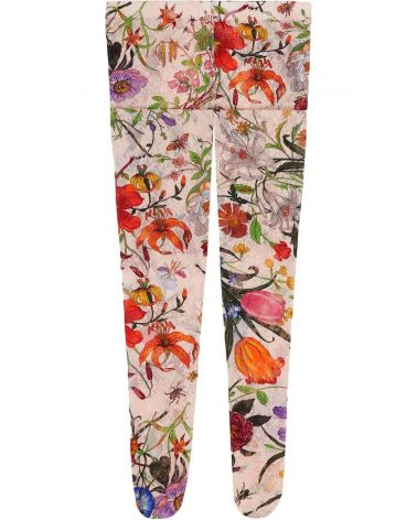 Collant in pizzo Flora
