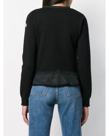 Cardigan full zip tricot collo coreano