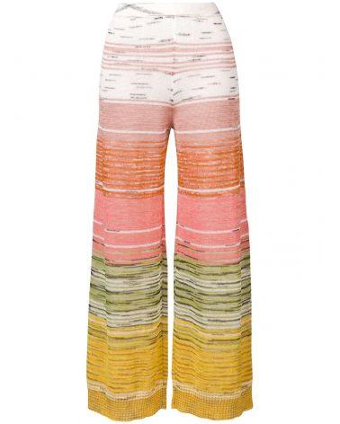 Pantalone gamba larga c/risvolto