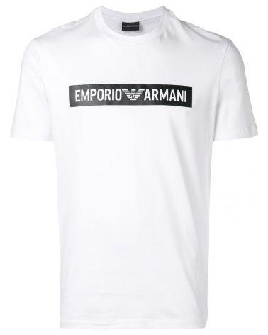 T-Shirt mm giro logo stampato a contrasto