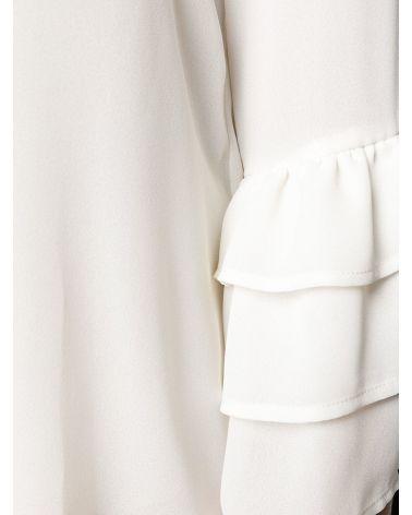 Blusa manica 3/4 c/balze