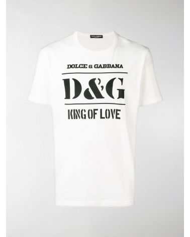 T-Shirt mm giro st. D&G King of love