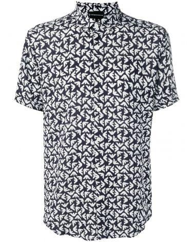 Camicia mm c/logo stampato all over