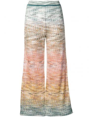 Pantalone zig zag lamè