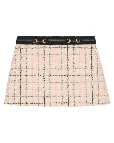 Minigonna in tweed