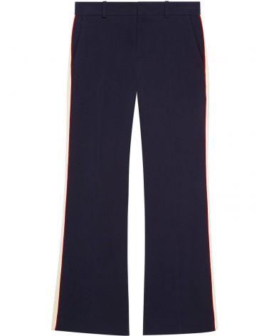 Pantalone bootcut in viscosa