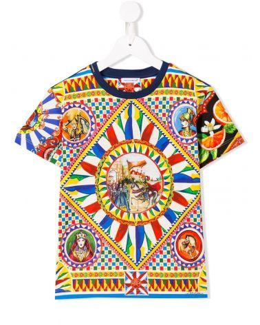 T-Shirt mm giro st.crociate dolci