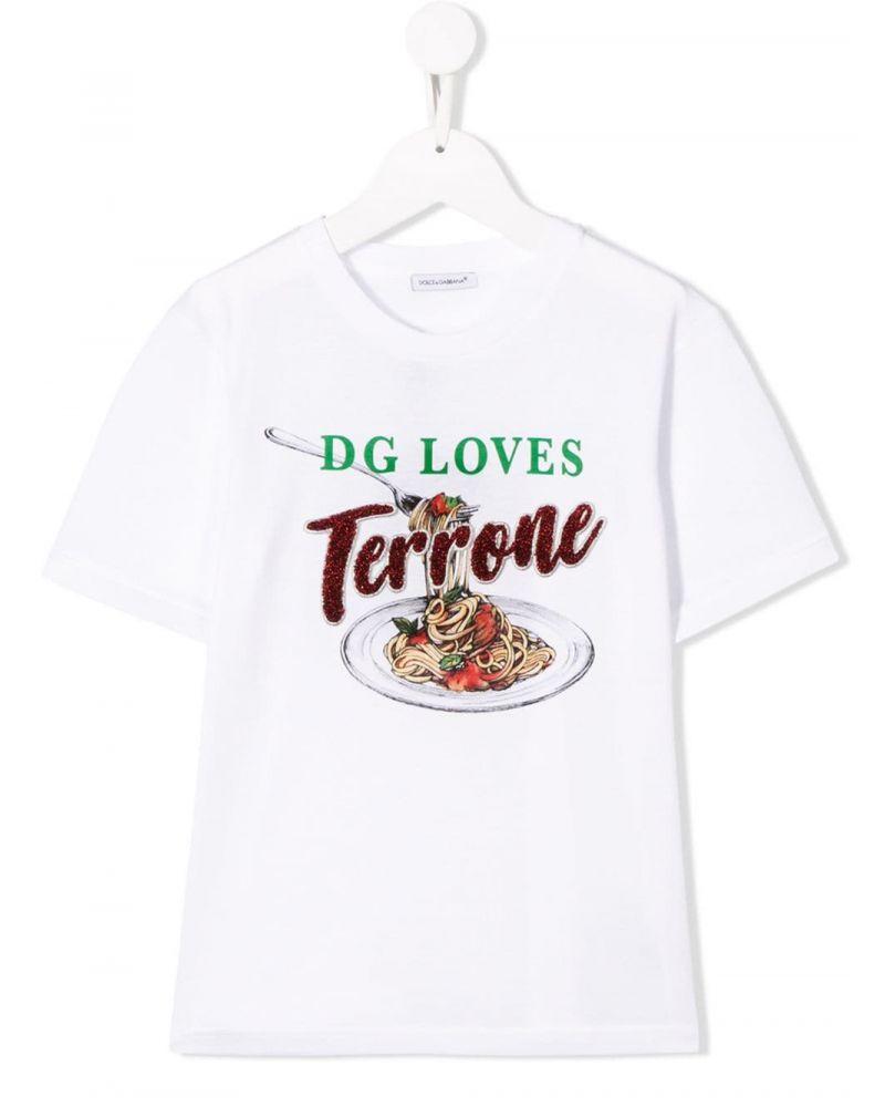 T-Shirt mm giro st.D&G Loves torrone
