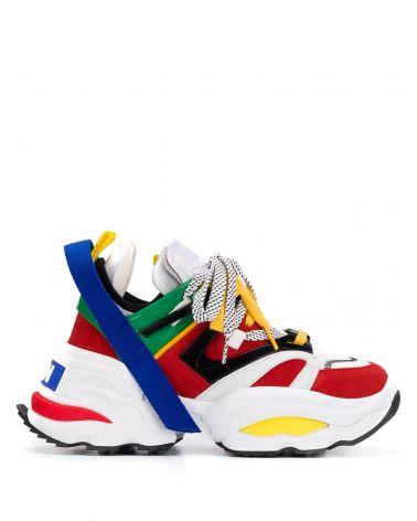 Sneakers mesh vernice velour