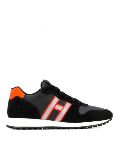 H429 sneakers H logo + stampa