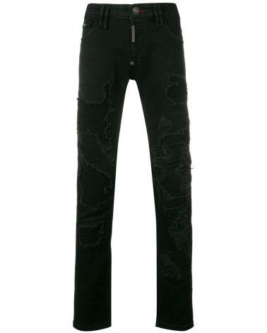Jeans super straight cut destroyed Sound Killa