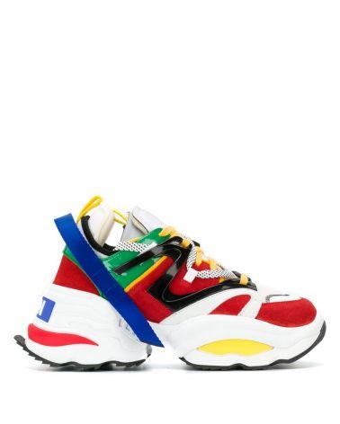 Sneakers + mesh + vernice