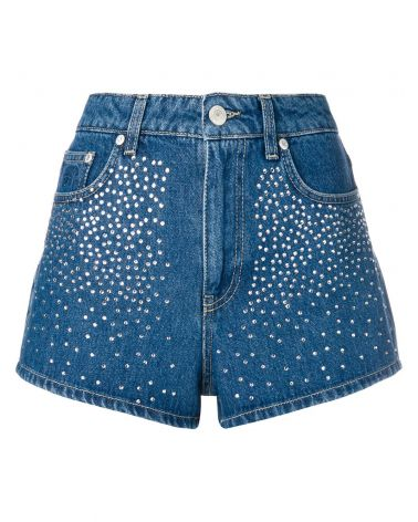 Short vita alta denim