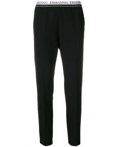 Pantalone elastico logato