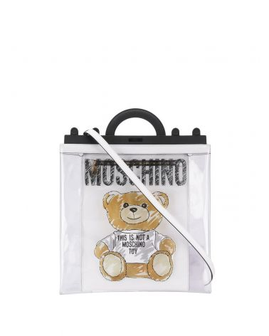 Shopper in PVC con Brushstroke Teddy Bear