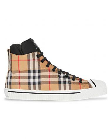 Sneaker alte con motivo Vintage check