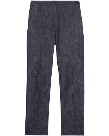 Jeans taglio dritto c/motivo monogramma