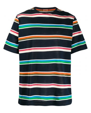 T-Shirt mm giro over collo costina