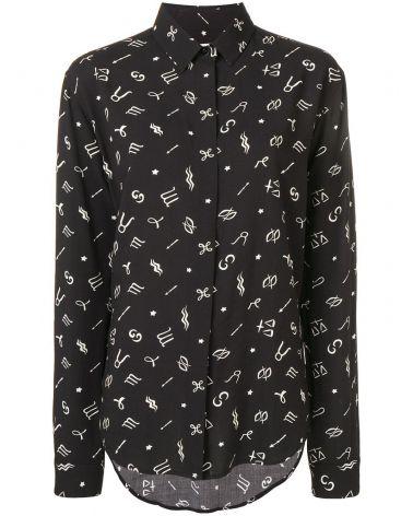 Camicia ml  horoscope-print fabric