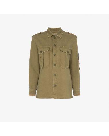 Camicia ml militare gabardine