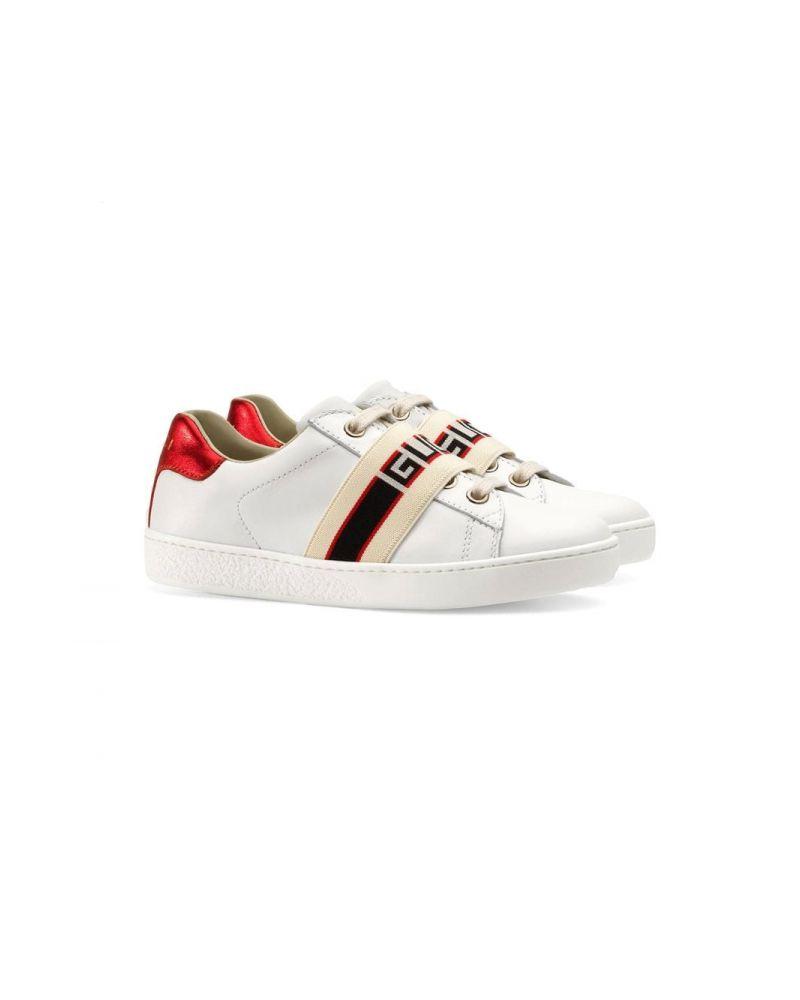 Sneakers pelle suola gomma