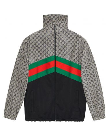 Giacca oversize in jersey tecnico