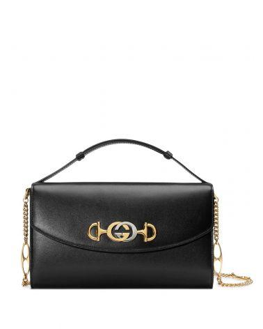 Mini borsa a spalla Gucci Zumi pelle liscia